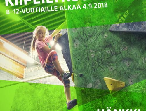 Kiipeilykoulu starttaa 4.9.2018